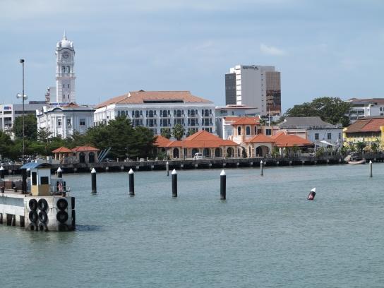 Ankunft am Hafen von Georgetown, Penang