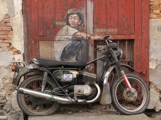 """Boy on Motorcycle"" (Ernest Zacharevic)"
