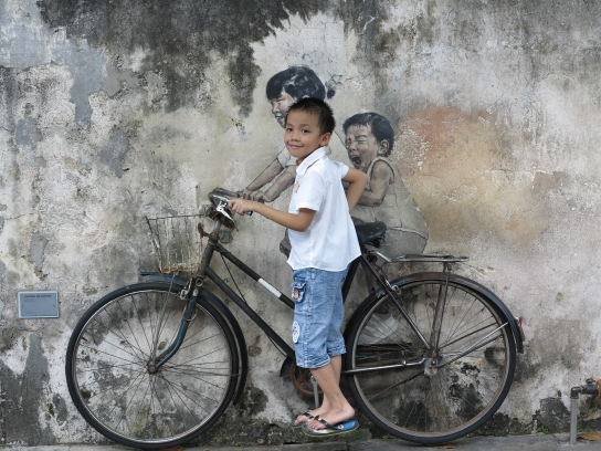 """""""Children on Bicycle"""" (Ernest Zacharevic)"""